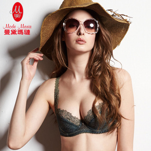 Mandai Ma Lian breathable lace sexy slim models without lining adjustable lingerie large size bra R86116