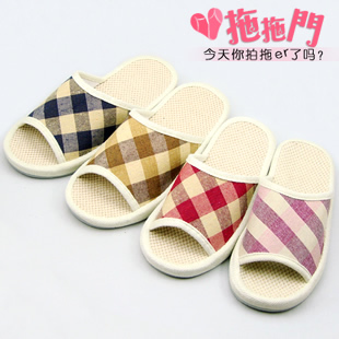 Foreign mop door household linen Spring Summer pelvic bottom floor cloth slippers men and women couple slippers silent
