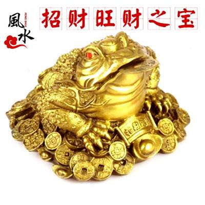 Пост Кинг повезло золотая жаба украшения дома город чистой меди золотая жаба открыла Гуан Фэн шуй подарки и ремесла Мебель