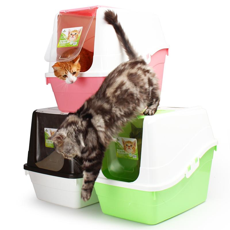 貓砂盆全封閉貓廁所大號封閉式貓沙盆貓屎盆送貓砂鏟肥貓貓咪用品