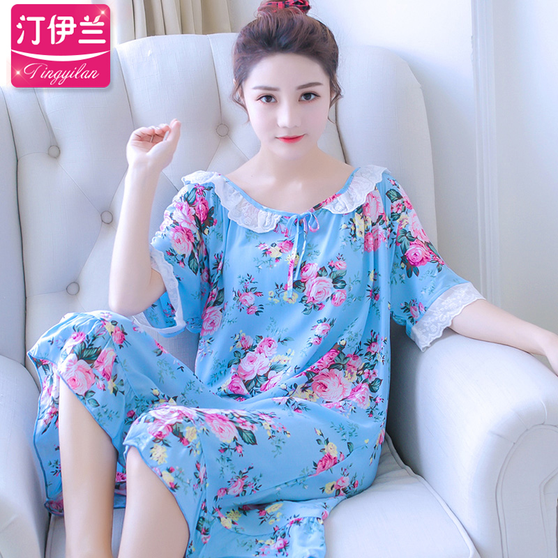 棉綢居家大碼夏款可愛睡衣
