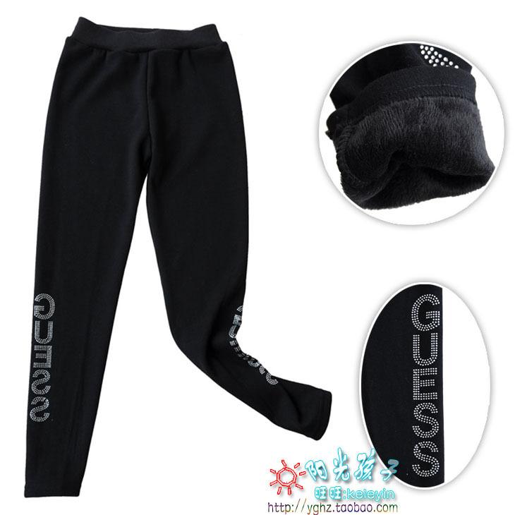 Специальные акции женщины носят густой зимняя одежда леггинсы и кашемир осень/зимней одежды с девятью штаны тепловой брюки черный 3605