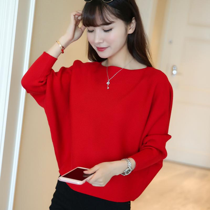 Теплый сорняки ирак 2017 осень новый свитер хеджирование платье свободный корейский воротник свитер женщина код