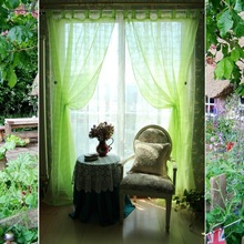 Foreign trade more than a single small pure and fresh and rural countryside wind hanging fruit green nose landing gauze shade finished curtain window shade bed curtain