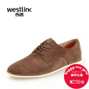 Westlink/West fall 2015 New England casual leather cowhide suede low cut men shoes