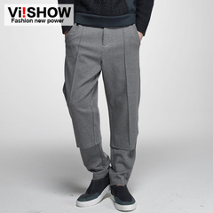 Viishow2015 spring and autumn new casual Pant men's cotton straight leg slacks featured personality men's pants boom
