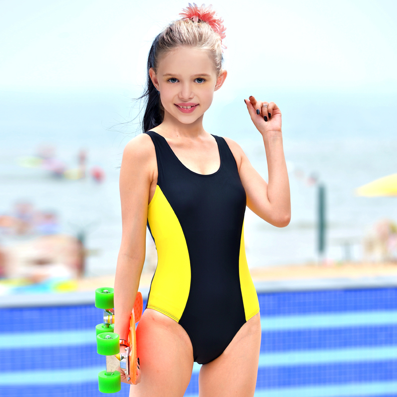 cbdace9047a The new training and competition swimwear teenage girls big virgin girl  child piece conserved Triangle Professional Swimming clothingqxqtmtoqnqlm  from ...