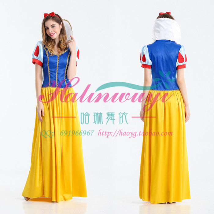 Halloween Adult Costume snow white dress Disney cosplay costume adult performance Costume