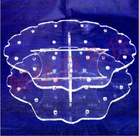 厂价直售促销可拆装透明贝壳形亚克力棒棒糖展架波板糖展示架