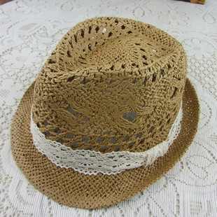 Handmade hat peppers Lace straw hat beach hat summer hat female summer