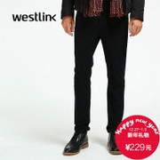 Westlink/West New Joker 2015 winter business men's casual pants plain thick straight trousers
