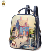 Amoy 2015 summer styles fashion shoulder bag lady bag backpacks Korean leisure College wind graffiti boom Pack