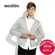 West-fall 2015 the new simple solid color coat for men casual fashion v-neck long sleeve Cardigan men's sweater