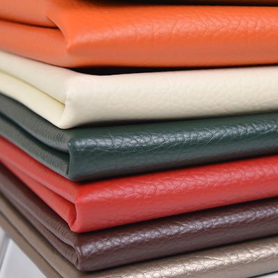 皮革面料人造革pu皮料大荔枝纹纯色沙发布料仿皮软包布硬包背景墙