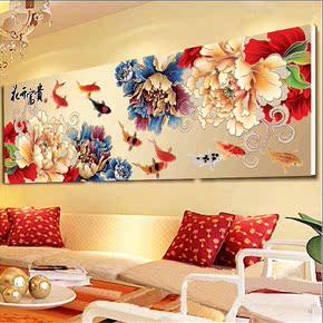 繡最新款客廳大幅鉆石貼鉆畫滿鉆圓鉆最美的季節包郵