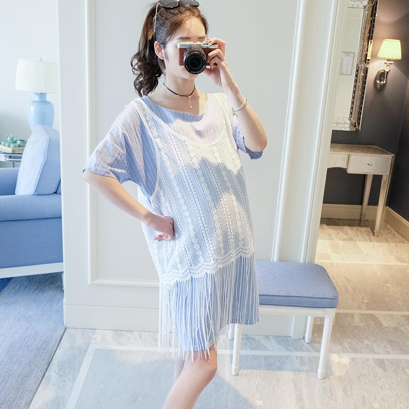 69.00元包邮2019新款夏装韩版短袖两件套连衣裙