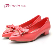 Non genuine bright bow pointed shoes new counters WGAB71401C