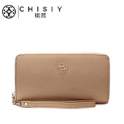 Original clutch bag CHISIY Qi XI-ladies wallet purse leather zip around wallet Korea Edition Europe