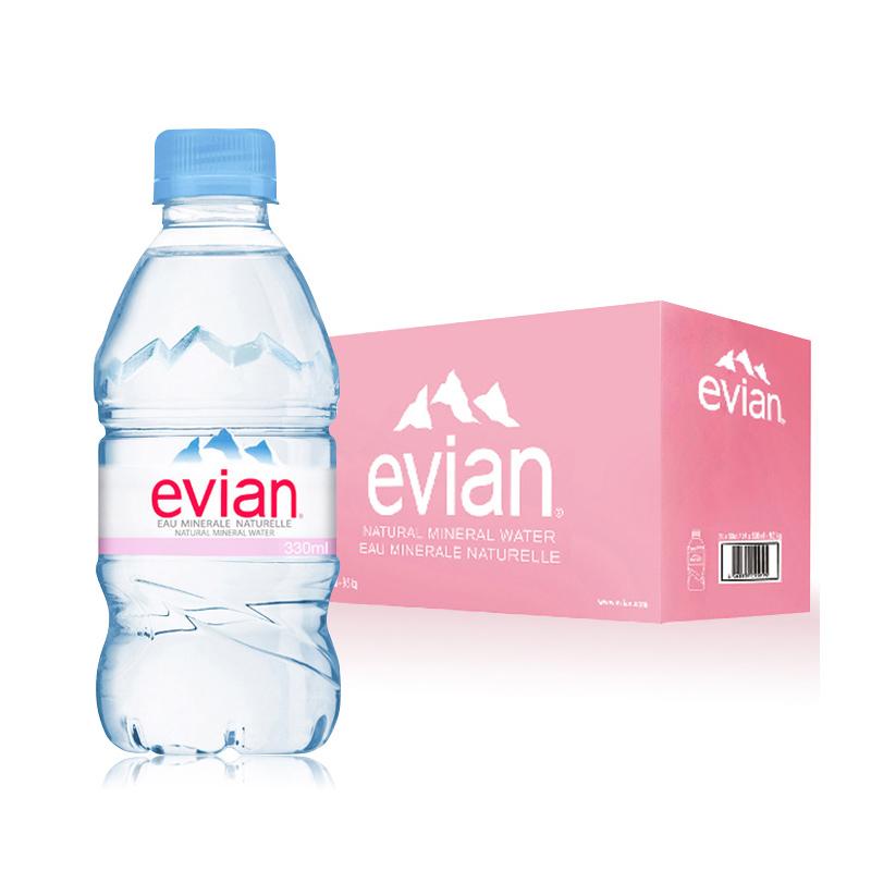 ~天貓超市~Evian 依雲330ml^~24瓶 箱礦泉水法國 整箱大包裝