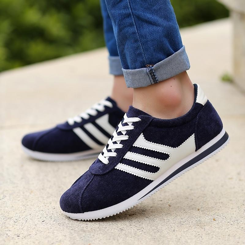 Весной и осенью новой молодежной моды обуви дышащей холст Мужская повседневная обувь мужчин корейской версии Форрест Гамп кроссовки