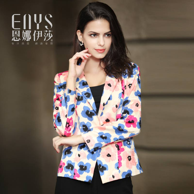 Enna isa spring and autumn fashion counter new slim fit one button suit womens long sleeves
