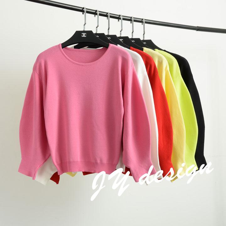 ^ @^ «JY» 2015 года падение девять новый фонарь рукав свитера рукава loose вязание пальто женщин