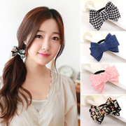 Know Connie hair accessories Korean fabric Butterfly string sweet loving circle tiara hair rubber band Holster accessories