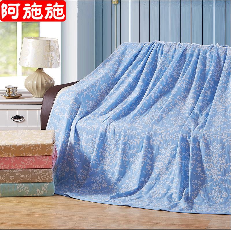 全棉毛巾被純棉單人雙人紗布毛巾毯毛毯空調毯夏被午睡床單