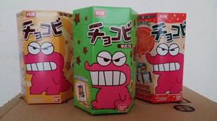 包邮 香港进口 小新巧克力/原味/番茄 饼干 25g 内含贴纸