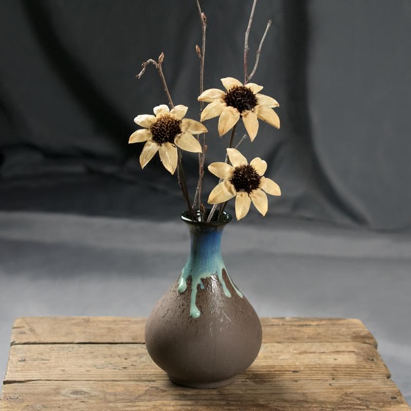 天然干花摆件 小雏菊玫瑰插花 简约现代客厅桌面装饰小清新太阳花