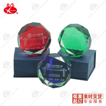 Multilateral diamond crystal 10 MOQ printed logo Enterprise exhibition activities to send customers creative small gifts