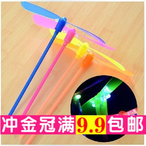 Свет бамбук стрекоза вспышка полет фея игрушка ученик земля стенд горячей свет ребенок игрушка подарок