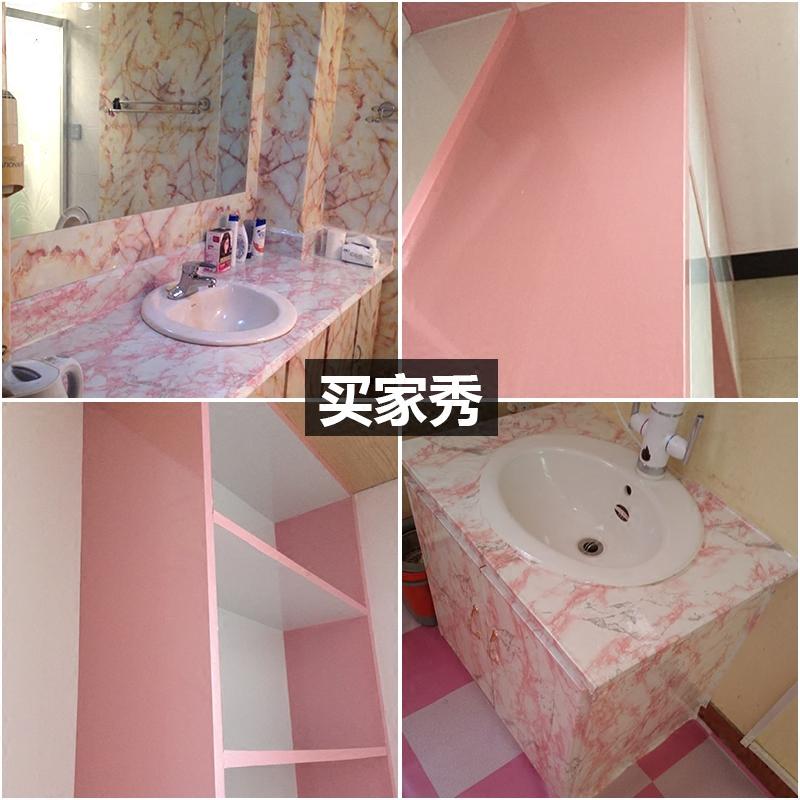 左娇女厨房橱柜书桌面衣柜子门仿大理石贴纸家具翻新防水墙纸自粘