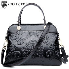 Jules new ladies bag for fall/winter fashion Joker embossed leather handbag shoulder bag Messenger bag surge