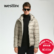 Westlink/West New 2015 winter warm light solid color men's Hooded short down jacket coat