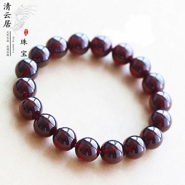 Garnet Bracelet natural 6a 45678mm multi circle Wine Red Garnet Bracelet womens necklace loose bead finished product