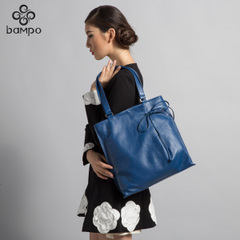 Bampo Banpo decorated fall/winter 2014 new leisure trends the first layer of leather handbags leather ladies shoulder bag