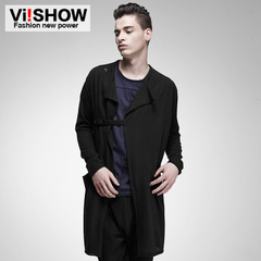 Viishow2015 spring clothes new knit long knit coat men's Cardigan features knitted sweater
