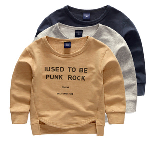 Boy sweater 2016 new children's clothing spring and autumn round neck T-shirt bottoming shirt baby long-sleeved shirt hedging