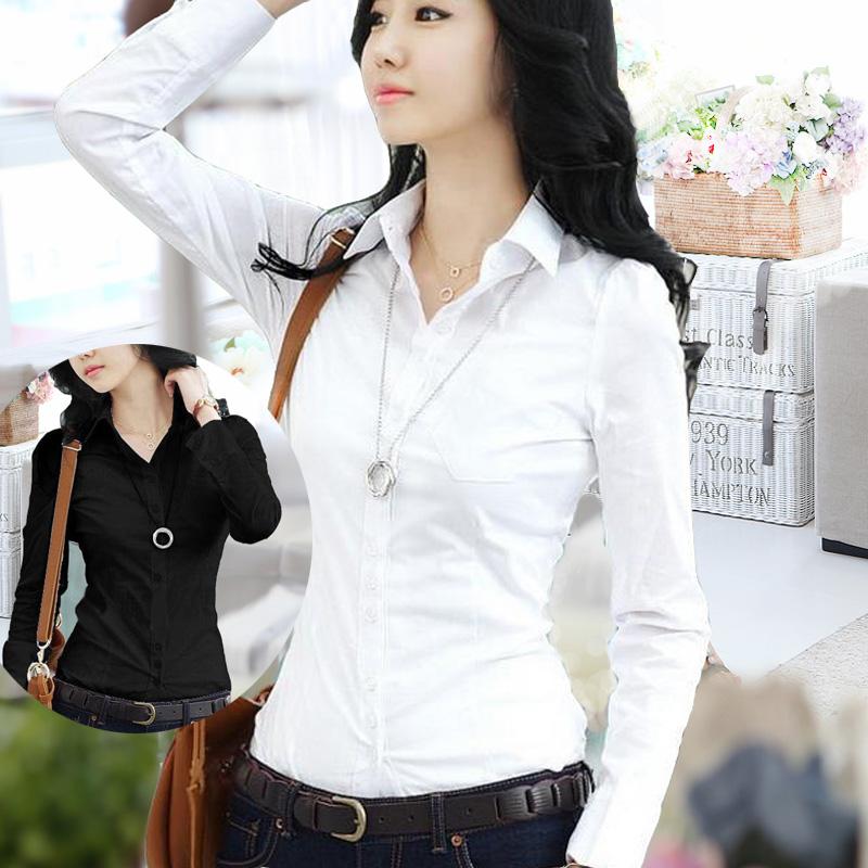 2016 годы плюс размер дамы тонкий темперамент ЧАО Хань фан базы инструменты Бизнес карьера была белая рубашка с длинными рукавами женщин