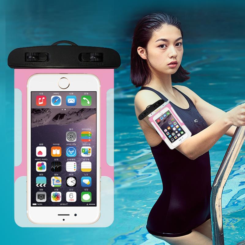 Предотвращение мобильных телефонов гидратация дайвинг крышка коснуться общий плавать вода следующий снимок фото водонепроницаемый мобильный телефон в кармане яблоко 6s huawei противо-дождевой