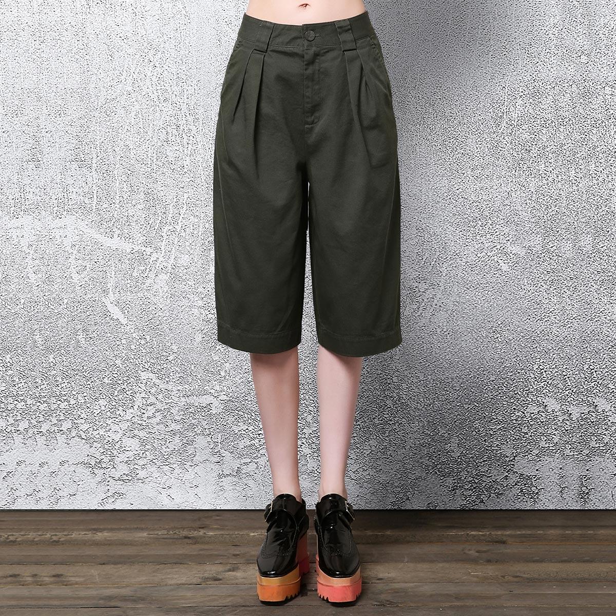 恩瑞妮純色純棉插袋 褲