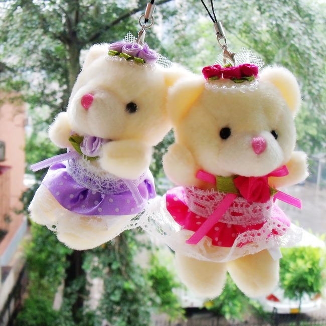 Свадьба плюшевого мишку плюшевые игрушки, висит Свадебные отстрела подарок букет мультфильм куклы материалы оптом