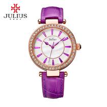 797包邮Julius聚利时2014石英机芯手表时尚防水水钻女日韩腕表JA
