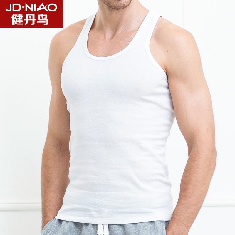 Дэн птица, Кин человек спортивный хлопка жилет жилет мужской жилет весной и летом пот корейской версии свободную рукавов базы