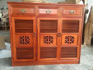 住宅紅木家具鞋柜菠蘿格實木雕花客廳隔斷儲物柜特價直銷