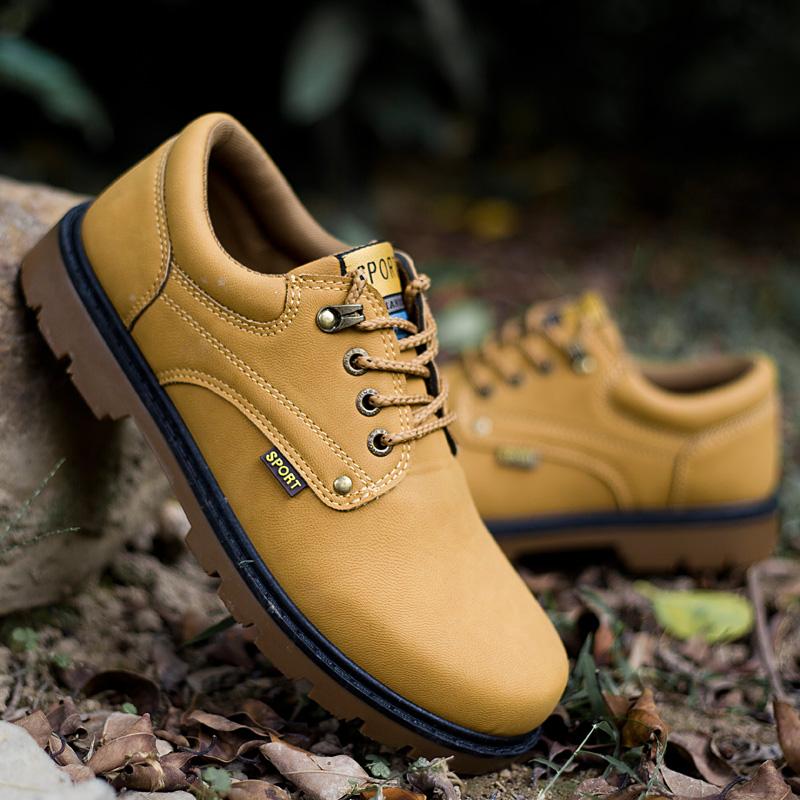 2015 году британский Спорт наружной арматуры Обувь повседневная обувь Мужская Мартин сапоги большой, Пешие прогулки обувь, сапоги низкой оснастка