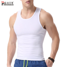 Products still men's vest men's sports hurdle fitness Slim summer cotton stretch bottom sweat vest