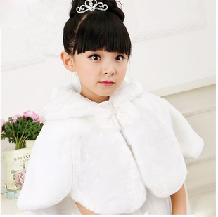 Flower girls shawl cloak cloak Leather grass thick winter long sleeved wool shawls cloak female child costume