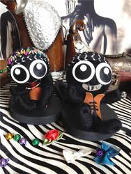 2020秋冬巫毒娃娃拖鞋夏季女款人字拖平底坡跟公仔中国风潮牌新款